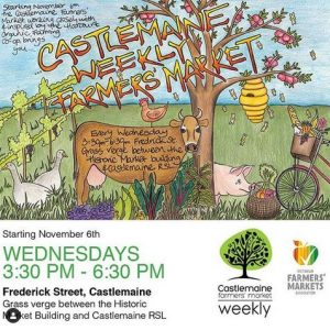 Poster for Castlemaine Farmers' Market by Kat from Hunters Harvest