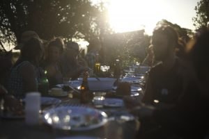 Sunset harvest dinner